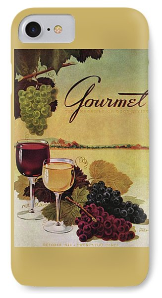 A Gourmet Cover Of Wine IPhone Case by Henry Stahlhut