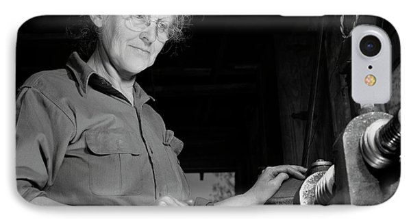 A Grandmother Cutting Gears IPhone Case by Stocktrek Images