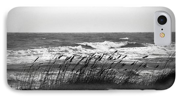 A Gray November Day At The Beach Phone Case by Susanne Van Hulst