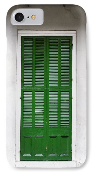 A Green Door In New Orleans Phone Case by Christine Till