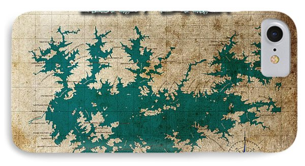 Vintage Map Print Lake Sidney Lanier Georgia IPhone Case by Greg Sharpe