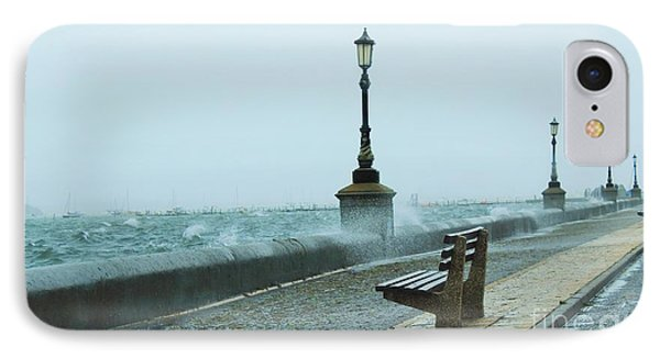 A Grey Wet Day By The Sea IPhone Case by Katy Mei