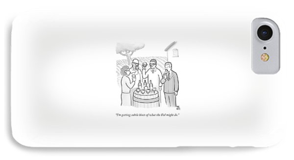 A Group Sample Wine At A Wine Tasting Vineyard IPhone Case by Paul Noth