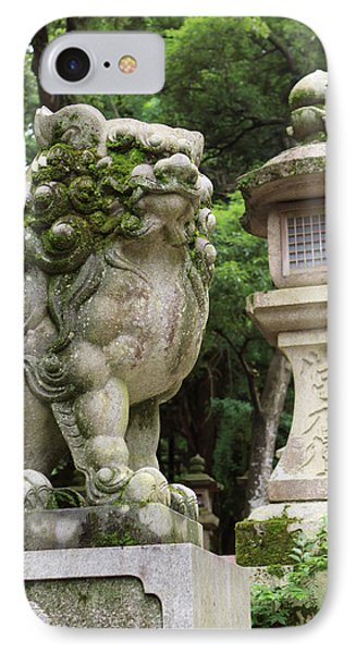 A Guardian Stone Lion Traditional Stone IPhone Case by Paul Dymond