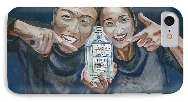 IPhone Case featuring the painting A Happy Birthday by Anna Ruzsan