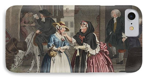 A Harlots Progress, Plate I IPhone Case by William Hogarth
