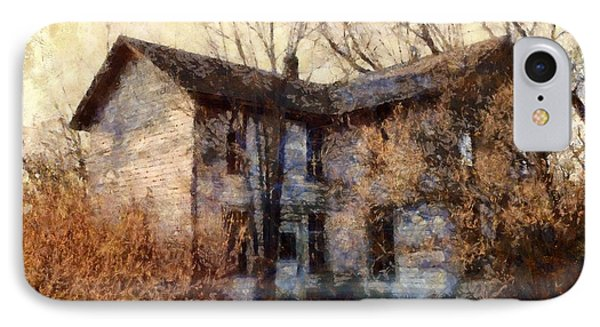 IPhone Case featuring the photograph A Haunting Melody - Old Farmhouse by Janine Riley