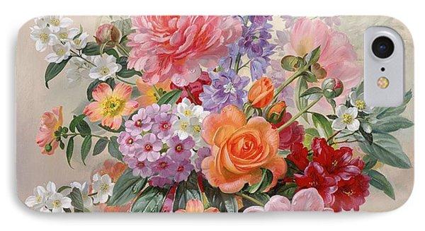 A High Summer Bouquet IPhone Case by Albert Williams