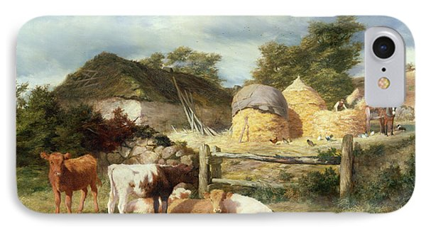 A Highland Croft, 1873 IPhone Case by Peter Graham