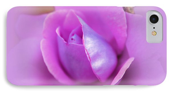 A Hint Of Lavender Rose IPhone Case by Judy Palkimas