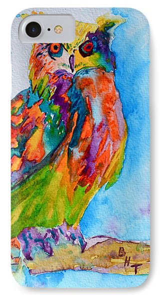 A Hootiful Moment In Time Phone Case by Beverley Harper Tinsley