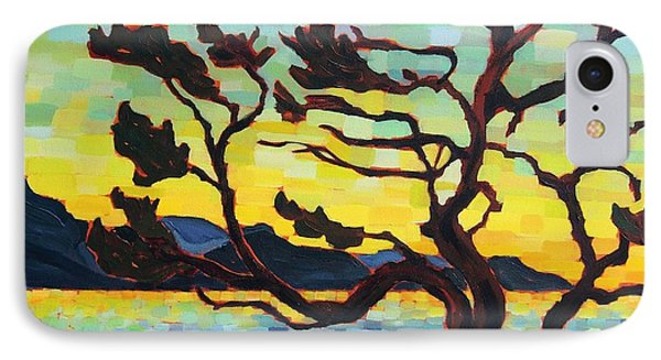 IPhone Case featuring the painting A Hornby Summer's Eve by Janet McDonald