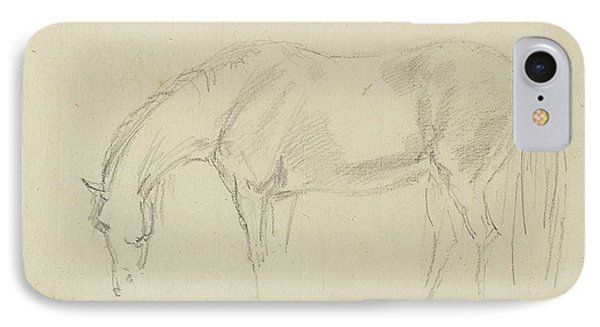 A Horse Grazing  IPhone Case by Sawrey Gilpin