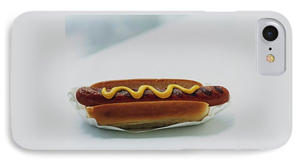A Hot Dog With Mustard IPhone Case by Romulo Yanes