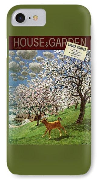 A House And Garden Cover Of A Calf IPhone Case