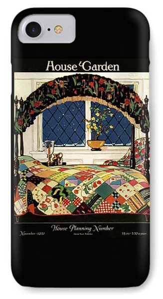 A House And Garden Cover Of A Four-poster Bed IPhone Case by Clayton Knight