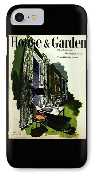 A House And Garden Cover Of A Living Room IPhone Case
