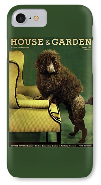 A House And Garden Cover Of A Poodle IPhone Case by Anton Bruehl