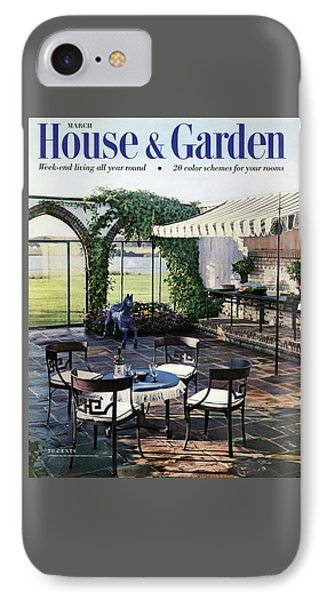 A House And Garden Cover Of A Terrace In East IPhone Case by Wiliam Grigsby