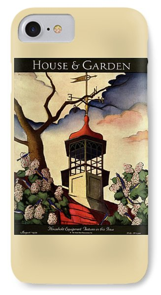 A House And Garden Cover Of A Weathervane IPhone Case by Bradley Walker Tomlin