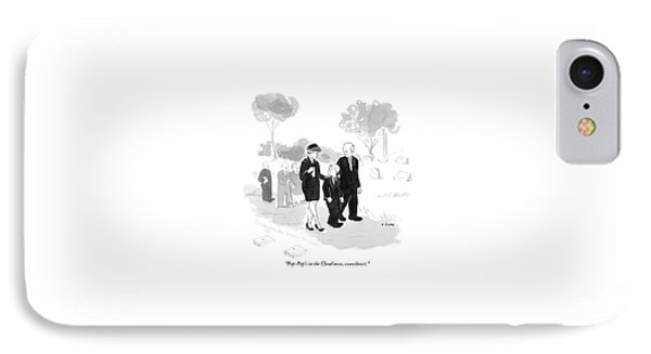 A Husband And Wife At A Funeral Comfort IPhone Case