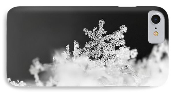 A Jewel Of A Snowflake IPhone Case by Rona Black