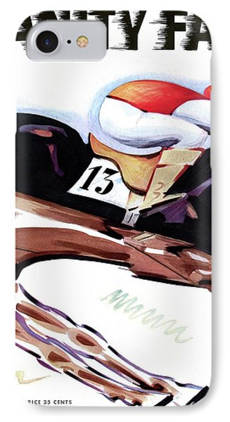 A Jockey And Horse IPhone Case by  Charlot