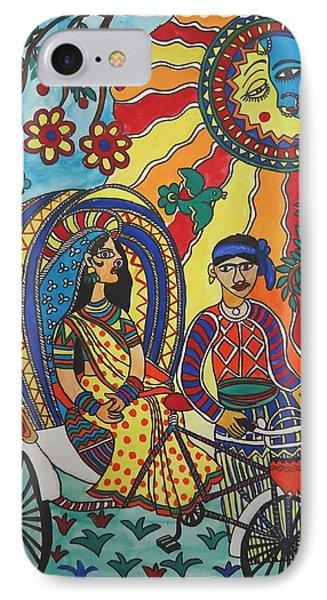 A Journey By Rickshaw Phone Case by Shakhenabat Kasana