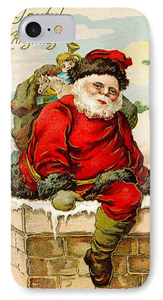 A Joyful Christmas IPhone Case by Vintage Christmas Card