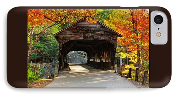 A Kancamagus Gem - Albany Covered Bridge Nh Phone Case by Thomas Schoeller