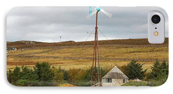 A Kestrel Wind Turbine In Scoraig IPhone Case by Ashley Cooper