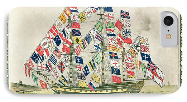 A King S Ship Dressed With The Colours Of Different Nations 6th October 1794 Phone Case by English School