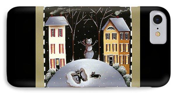 A Kitten Winter Wonderland Phone Case by Catherine Holman