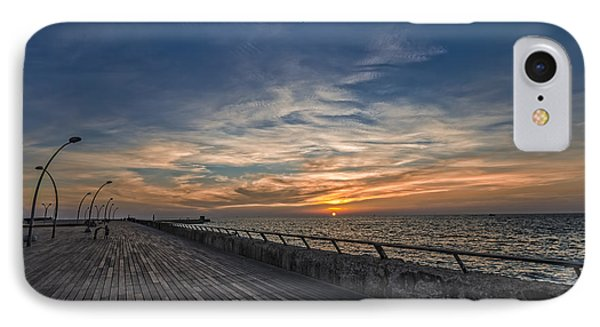 IPhone Case featuring the photograph a kodak moment at the Tel Aviv port by Ron Shoshani