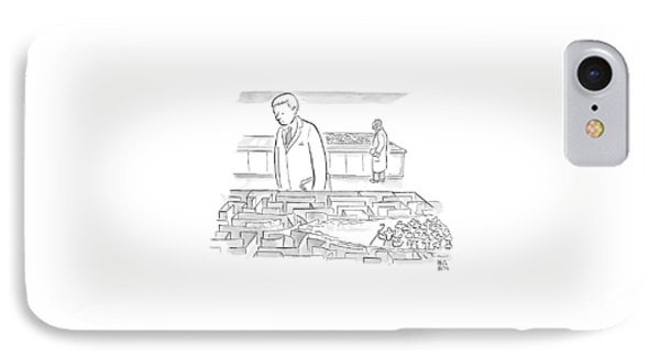 A Laboratory Scientist Looks On As The Walls IPhone 7 Case by Paul Noth