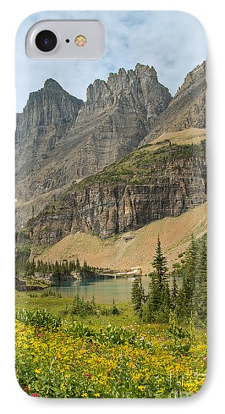 A Lake Near Iceberg Lake Along The Trail Phone Case by Natural Focal Point Photography