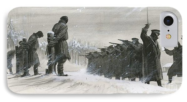 A Last Minute Reprieve Saved Fyodor Dostoievski From The Firing Squad IPhone Case by  Ralph Bruce