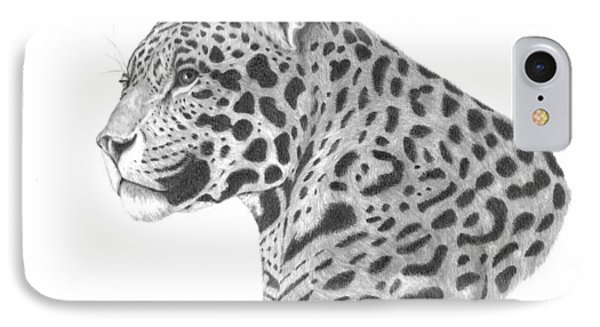 A Leopard's Watchful Eye IPhone Case by Patricia Hiltz