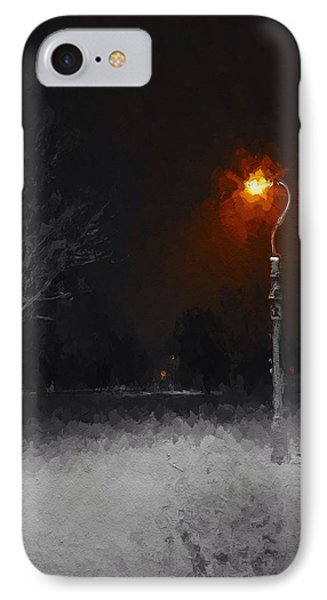 A Light In A Cold Winters Night IPhone Case by Steve K