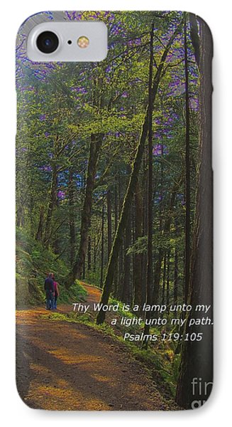 A Light Unto My Path Phone Case by Charles Robinson