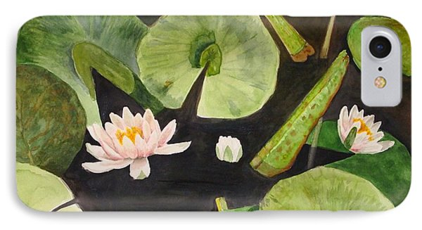 IPhone Case featuring the painting A Lily Pond by Nancy Kane Chapman