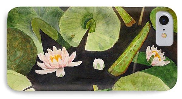 A Lily Pond IPhone Case by Nancy Kane Chapman