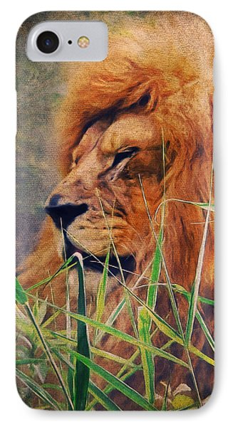A Lion Portrait IPhone 7 Case by Angela Doelling AD DESIGN Photo and PhotoArt