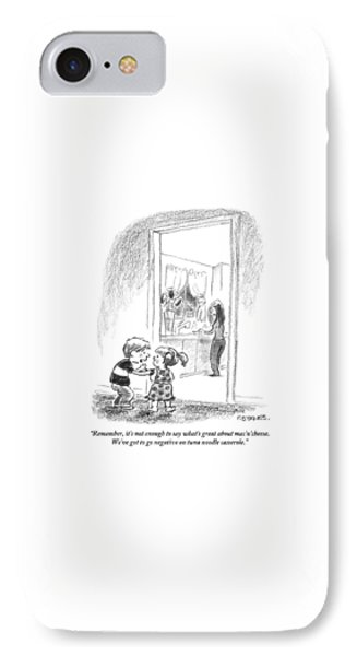 A Little Boy Speaks To A Little Girl IPhone Case