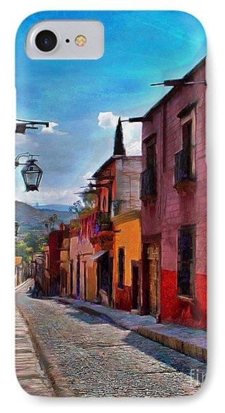 A Little Street In San Miguel IPhone Case by John  Kolenberg