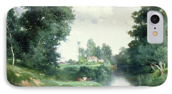 A Long Island River, 1908 IPhone Case by Thomas Moran