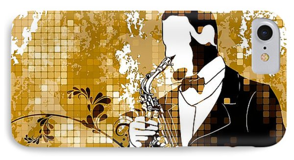 A Love For Sax Phone Case by Stanley Mathis