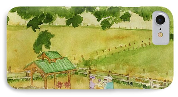 A Lovely Day At Lavender Hills IPhone Case by Ann Michelle Swadener