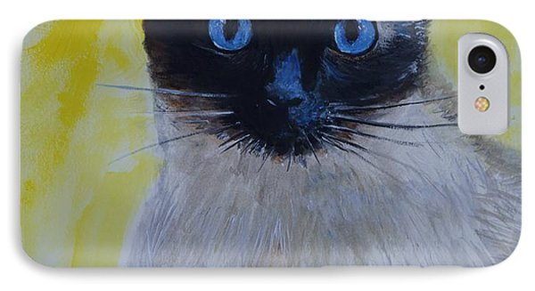 A Loving Siamese Phone Case by Leslie Allen