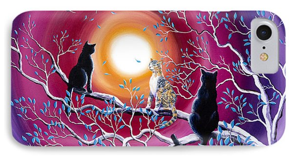 A Magical Autumn Night IPhone Case by Laura Iverson
